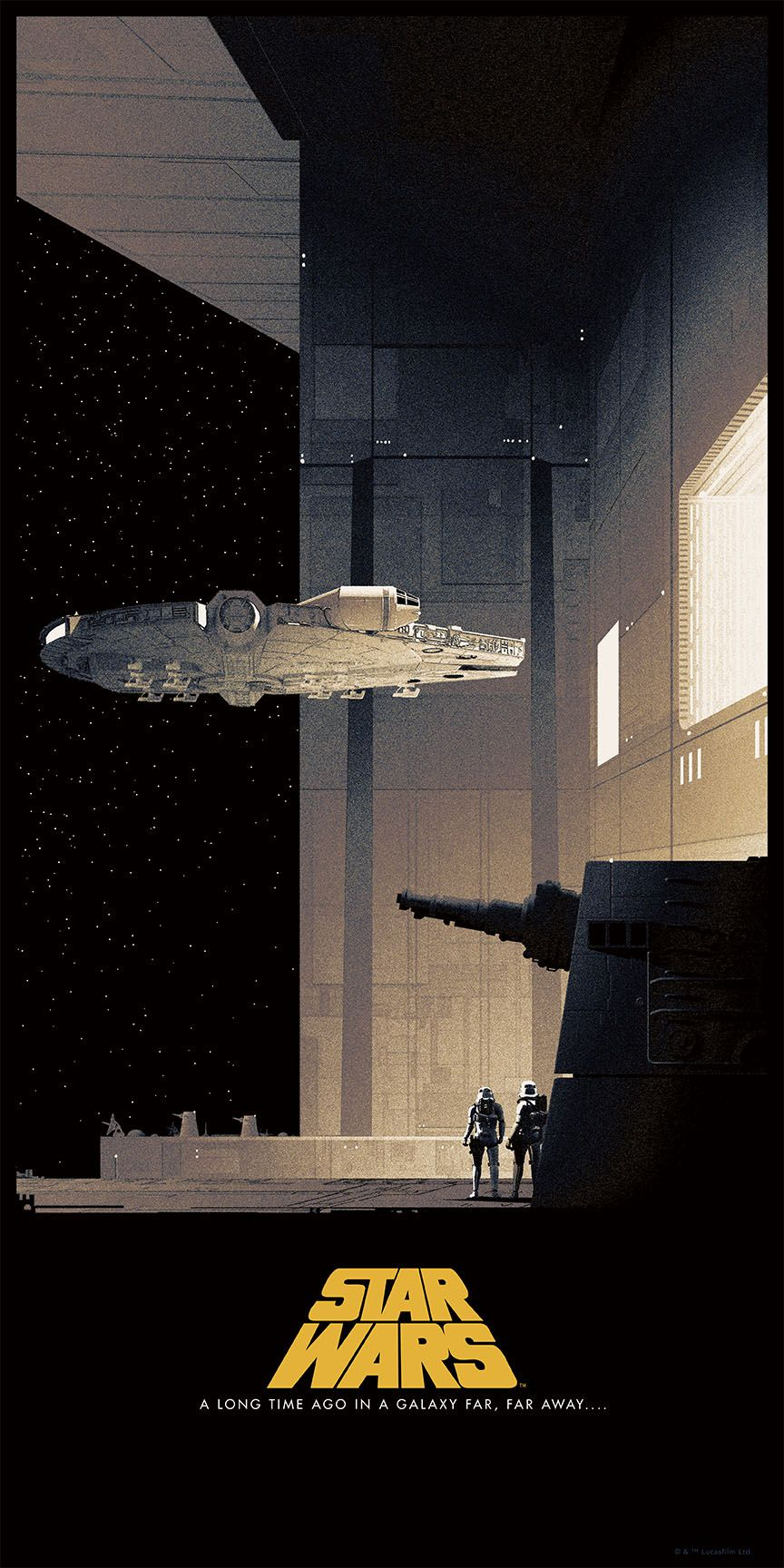 star wars posters by matt ferguson for bottleneck gallery. Black Bedroom Furniture Sets. Home Design Ideas