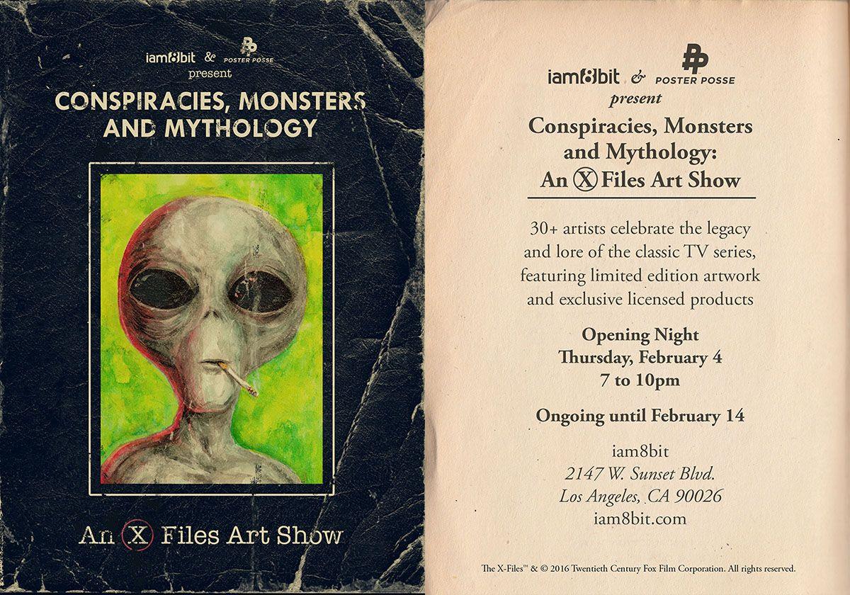 X Files Art Show Iam8bit Flier 1