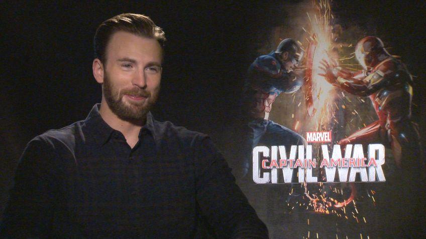 chris evans on captain america civil war and spiderman