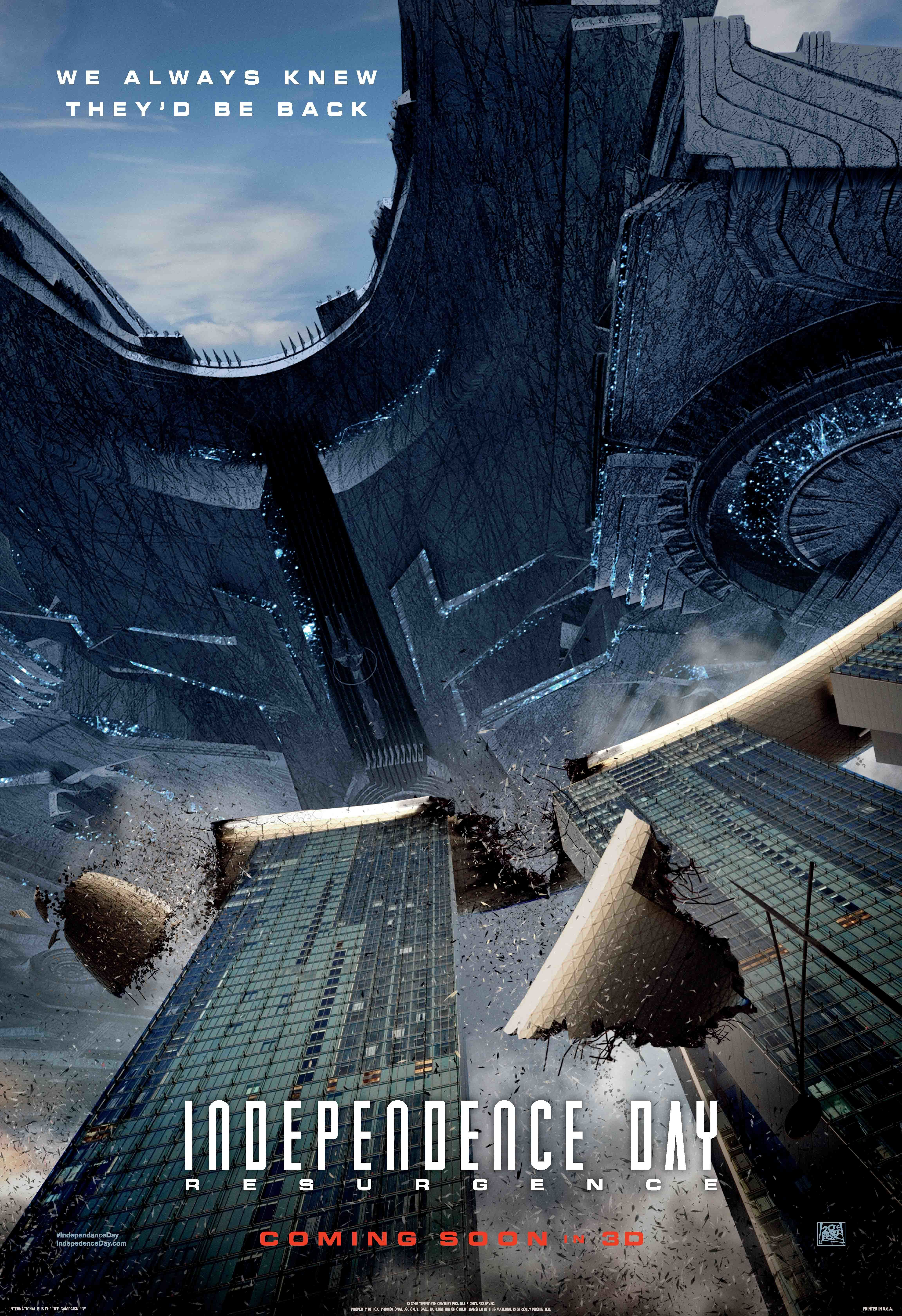 Independence Day 2 Posters Head For The Landmarks Collider