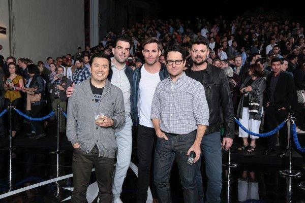 Justin Lin, Zachary Quinto, Chris Pine, JJ Abrams,Karl Urban
