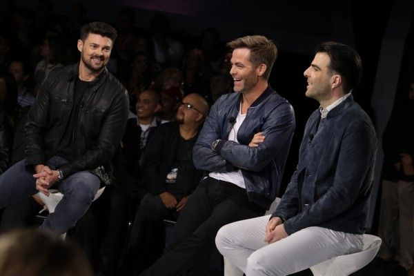 Karl Urban, Chris Pine, Zachary Quinto