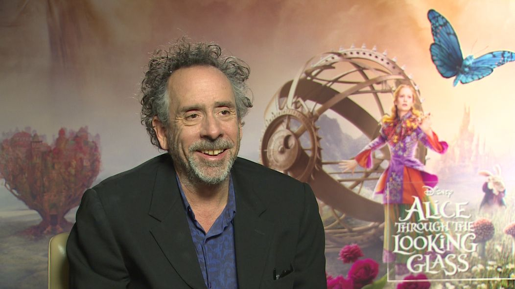 tim burton on producing alice through the looking glass