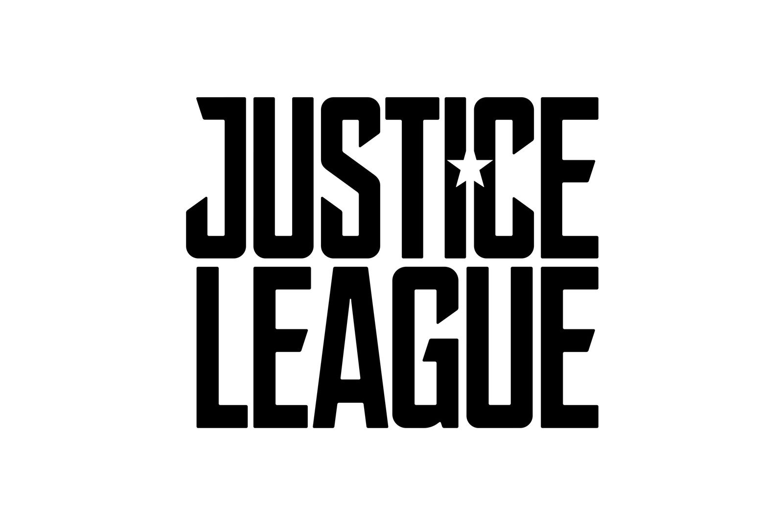 The justice league logo