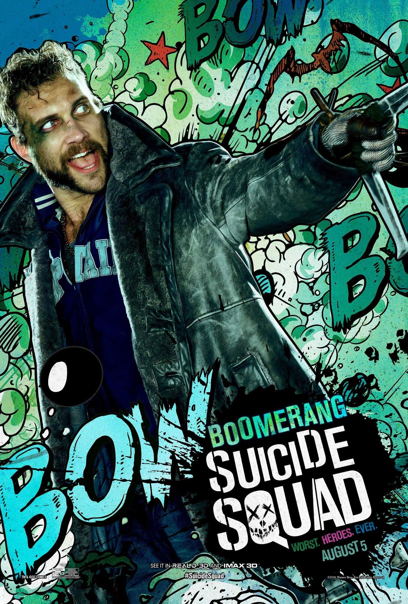 WHEN THE HUNTER BECOMES THE HUNTED ✸ mission III Suicide-squad-poster-boomerang-1