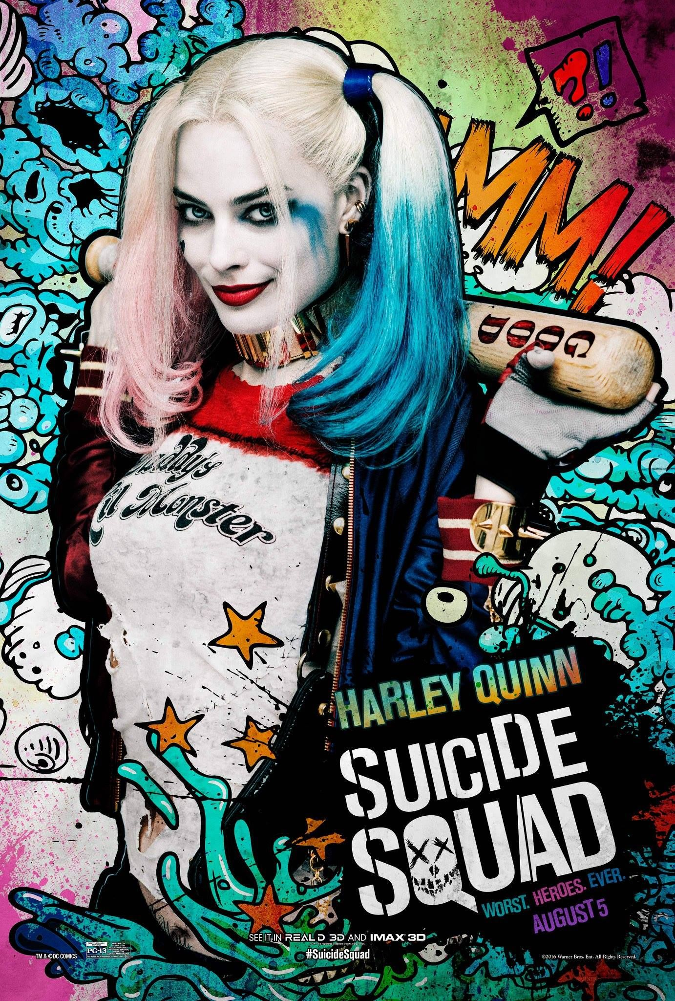 suicide squad margot robbie on the joker harley dynamic collider. Black Bedroom Furniture Sets. Home Design Ideas
