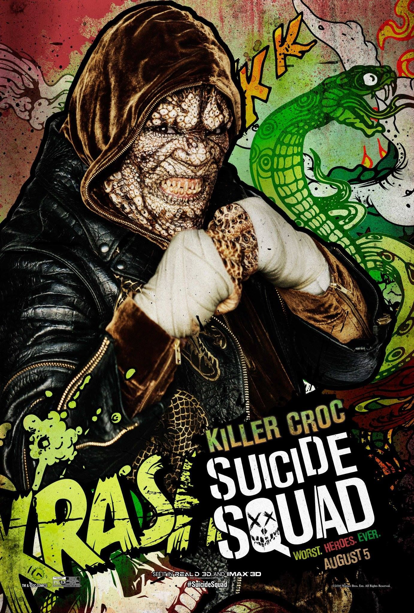 Suicide Squad: Killer Croc Explained by Adewale Akinnuoye