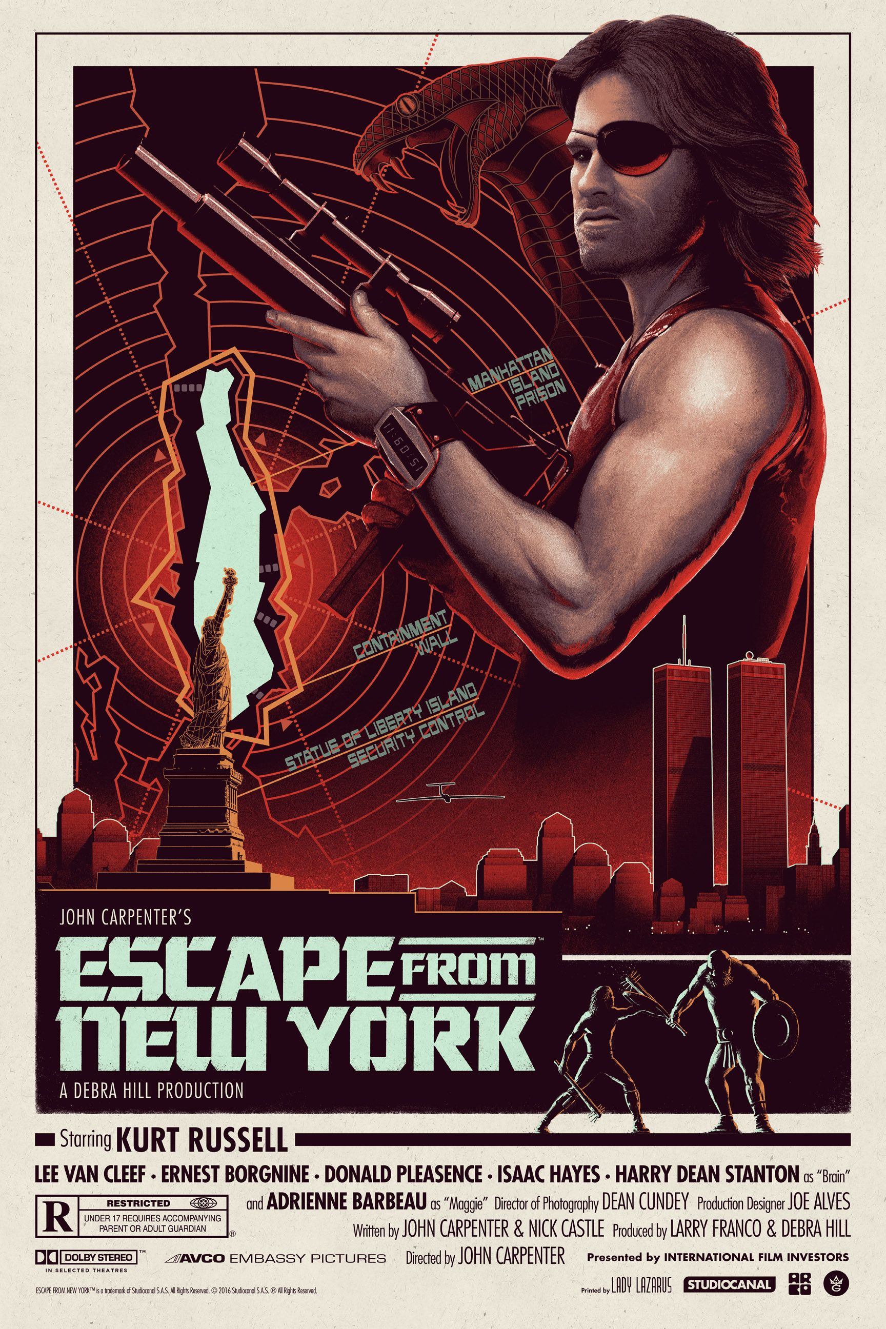 escape from new york gets a cool poster by matt ferguson. Black Bedroom Furniture Sets. Home Design Ideas