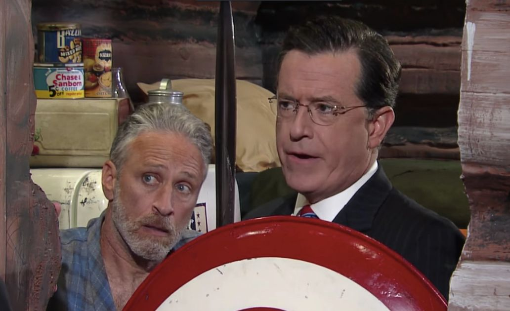 Stephen Colbert Character Retired Due To Lawsuit Threat Collider - Underwear on a us map colbert show
