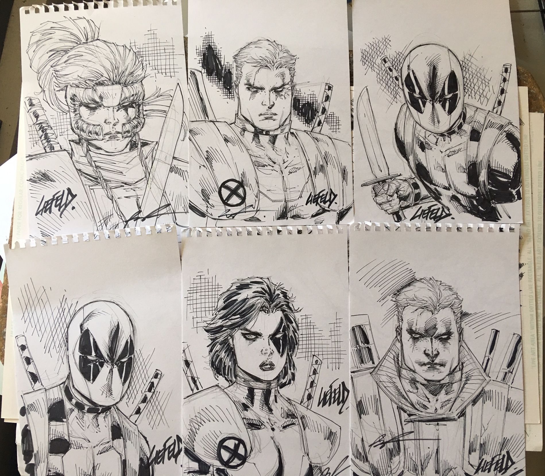 How To Create Comics Manga: Rob Liefeld X-Force Sketches Are Hidden Around Comic-Con
