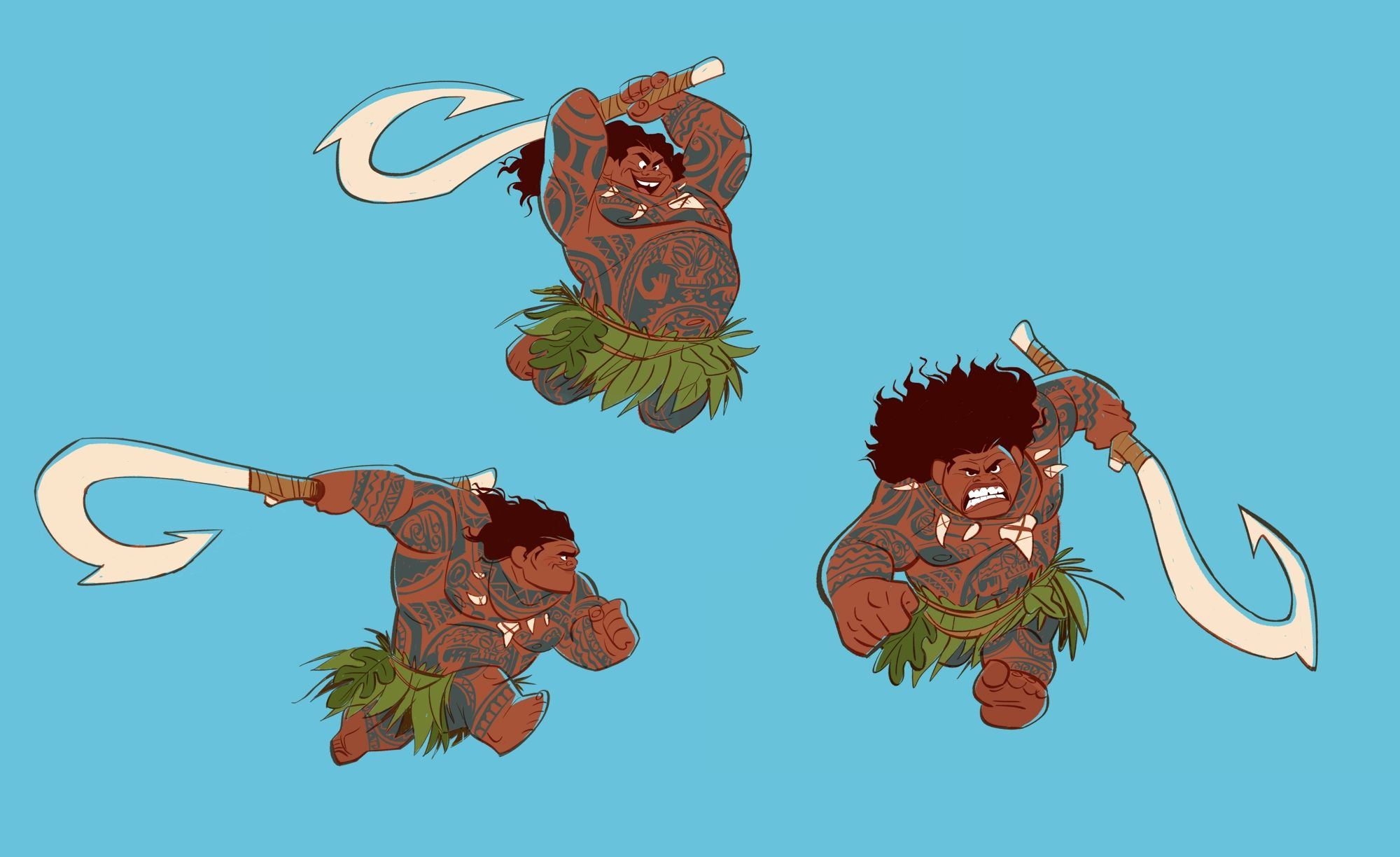 Character Design For Disney : Moana new images reveal concept art and storyboards