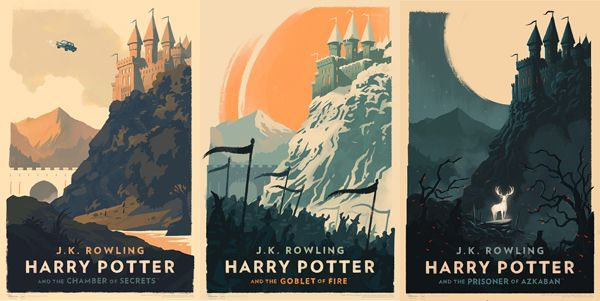 Harry Potter Book Cover Art Posters ~ Harry potter olly moss posters show hogwarts through the
