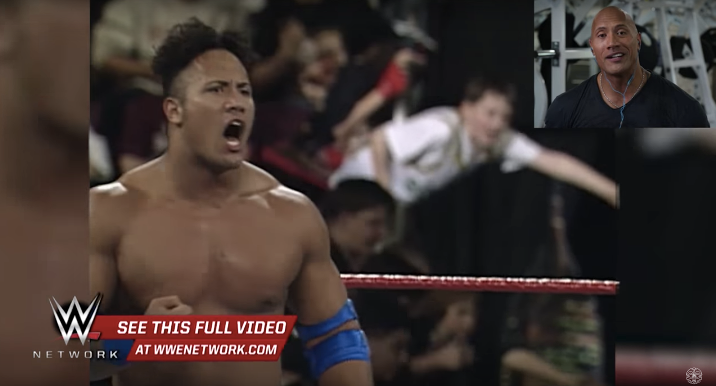 Watch: The Rock Reacts to His WWE Debut Video