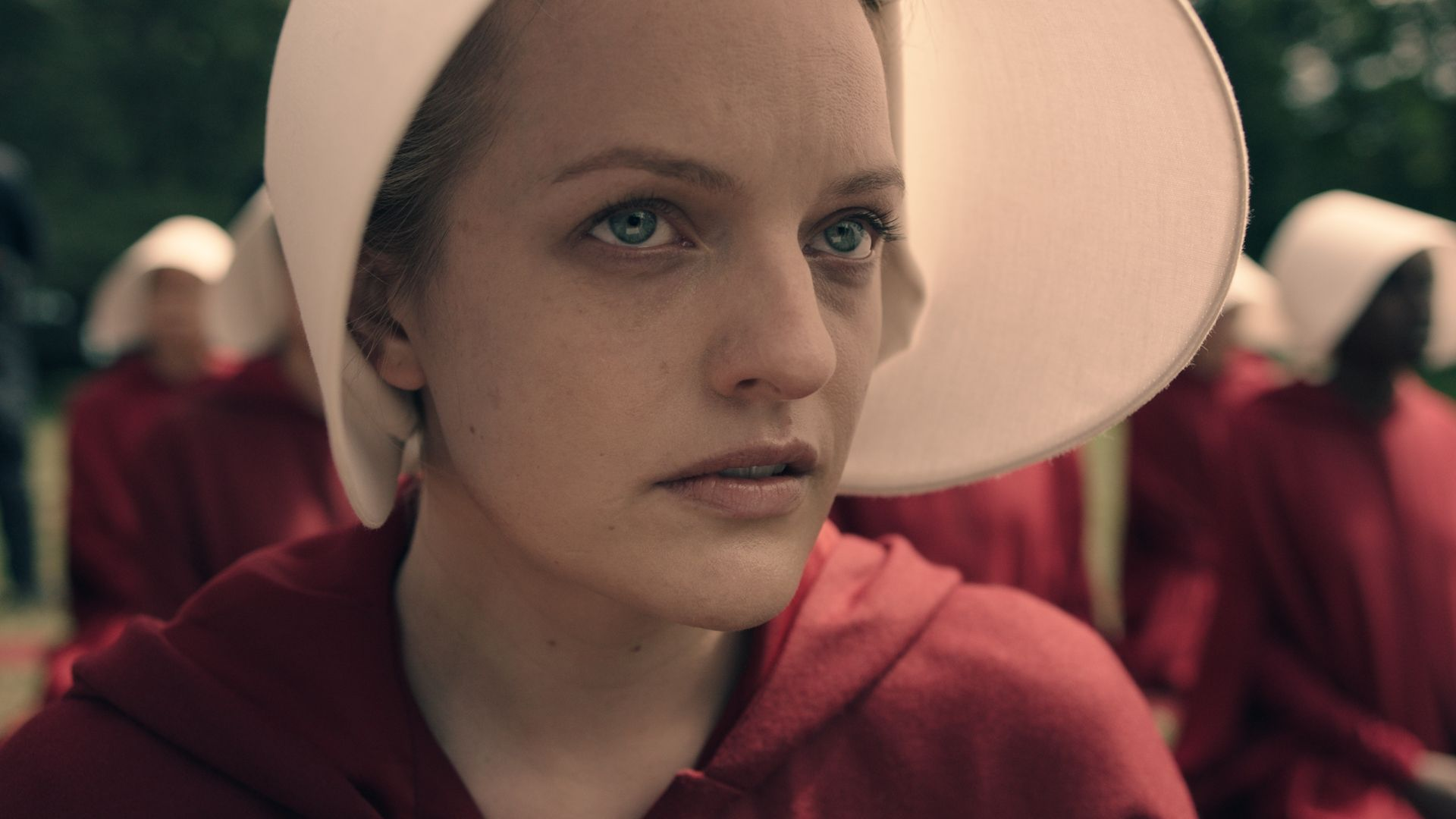 Elisabeth Moss in THE HANDMAID'S TALE, making its world premiere at Tribeca TV.