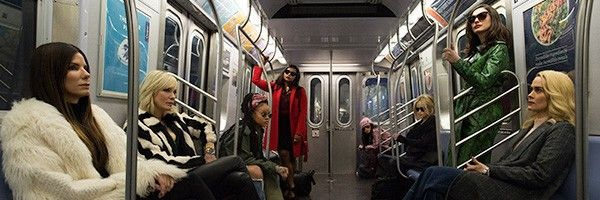 oceans 8 image finds the cast taking the subway collider