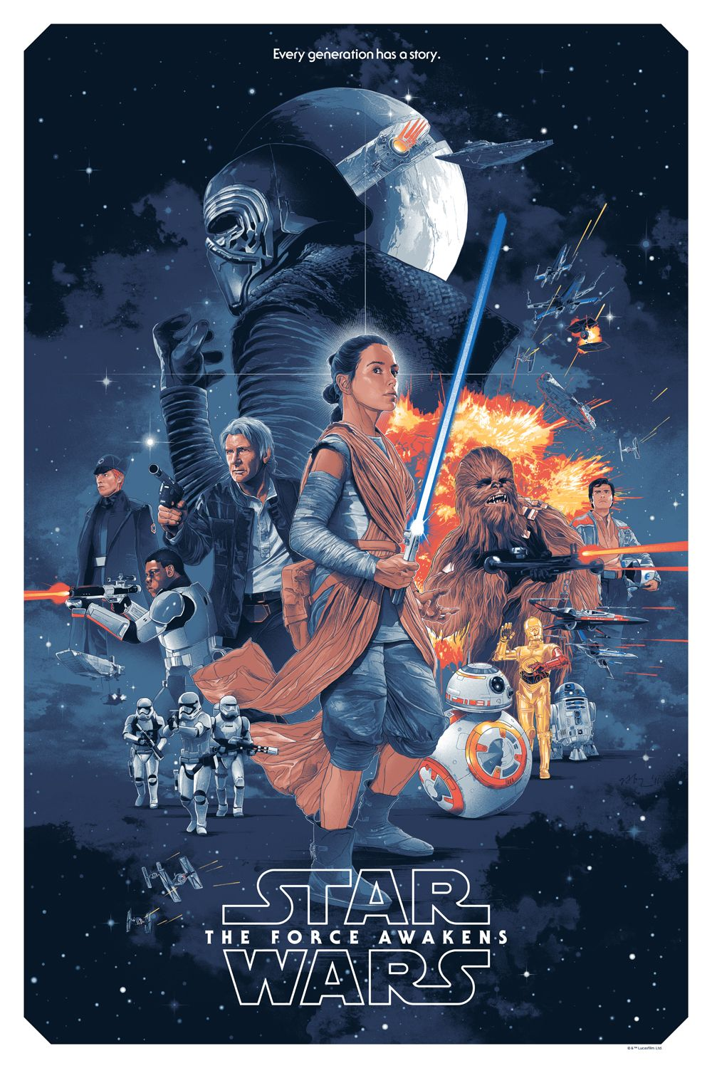 star wars the force awakens poster by gabz collider. Black Bedroom Furniture Sets. Home Design Ideas