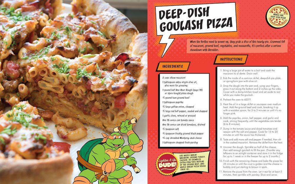 Teenage Mutant Ninja Turtles Pizza Cookbook Review Collider