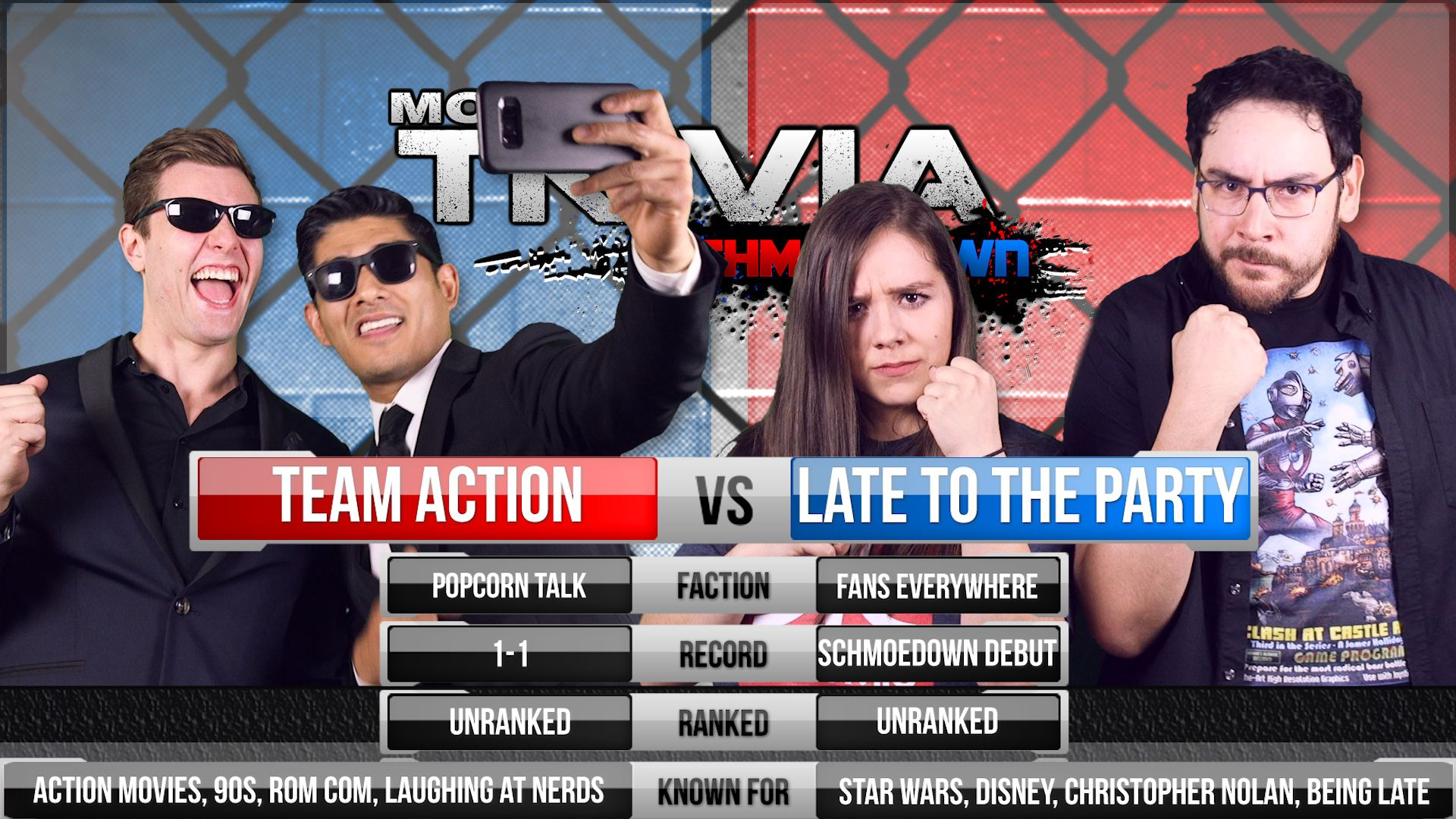 Movie Trivia Schmoedown: Team Action vs  Late to the Party