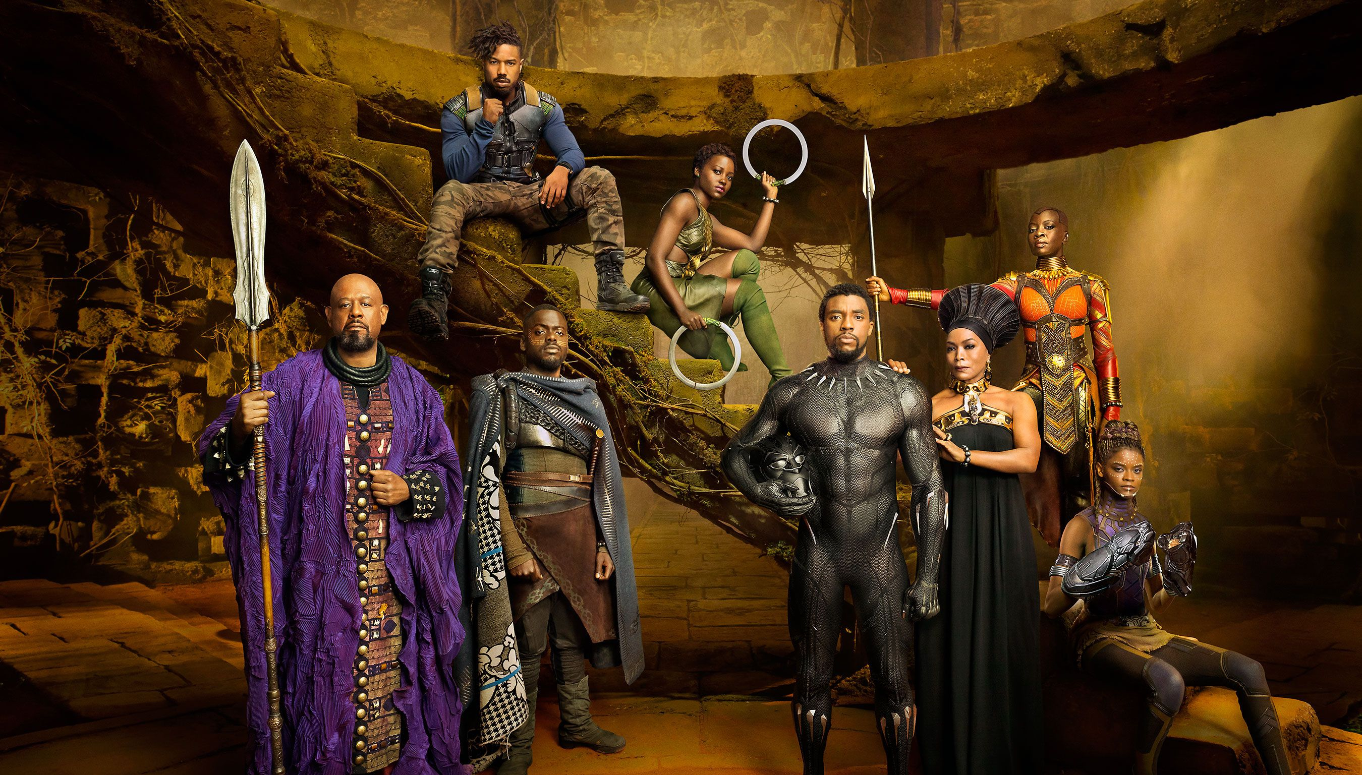 black panther cast social - 'Black Panther' on Monitor to Be the MCU's Highest Solo Story Opener Ever