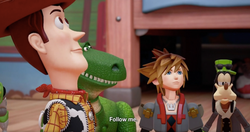 kingdom hearts 3 new trailer travels to toy story world