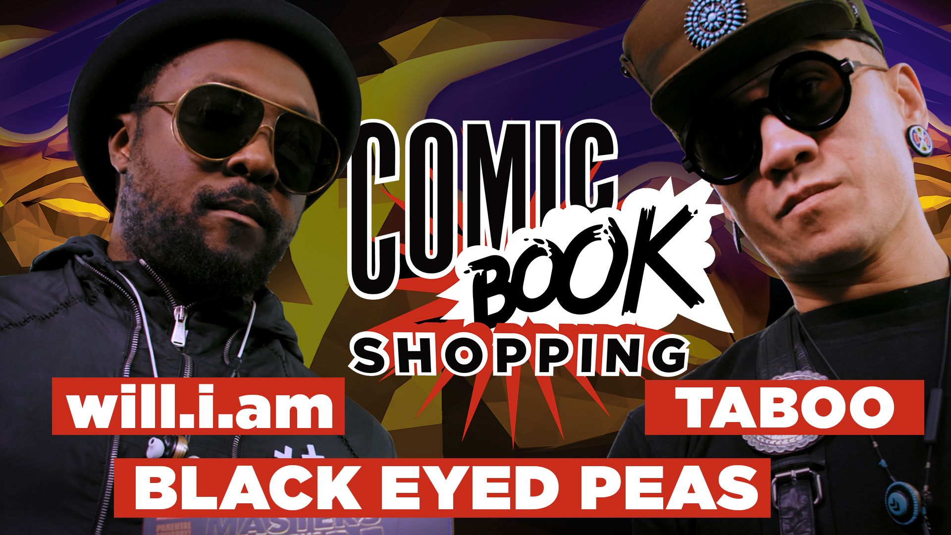 Black Eyed Peas' will.i.am and Taboo Talk Creating Their Own Comic and Go Comic Book Shopping