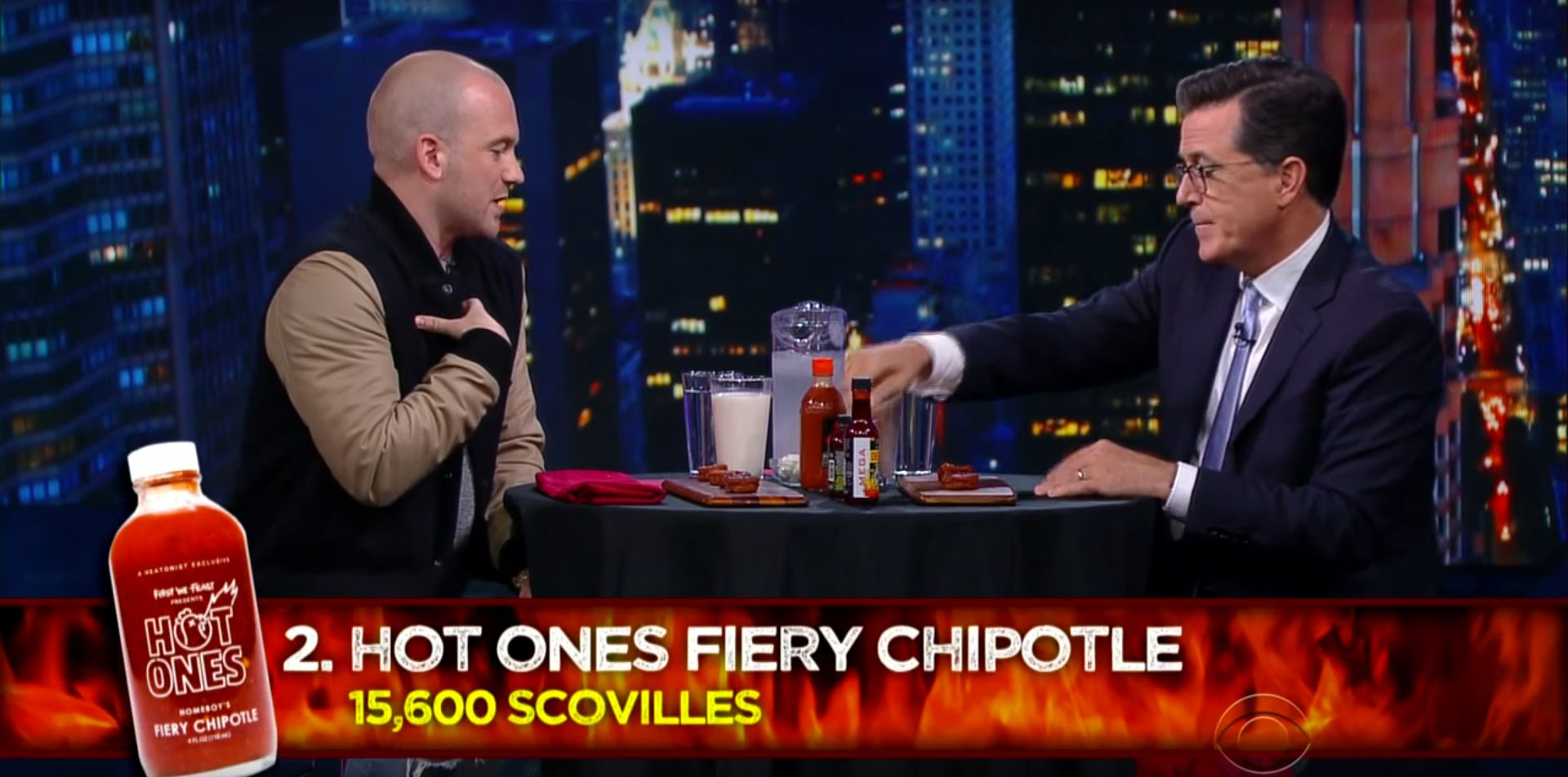 Stephen Colbert Takes The Hot Ones Challenge Collider - Underwear on a us map colbert show