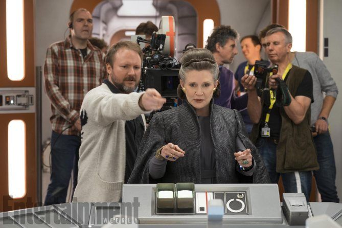star wars 8 set photo rian johnson carrie fisher - 'The Director and the Jedi' Trailer Reveals the Making of 'Star Wars: The Last Jedi'