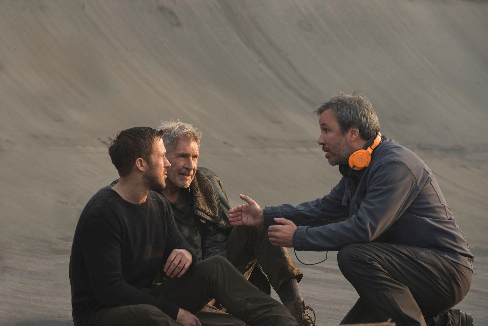 Denis Villeneuve avec Ryan Gosling et Harrison Ford