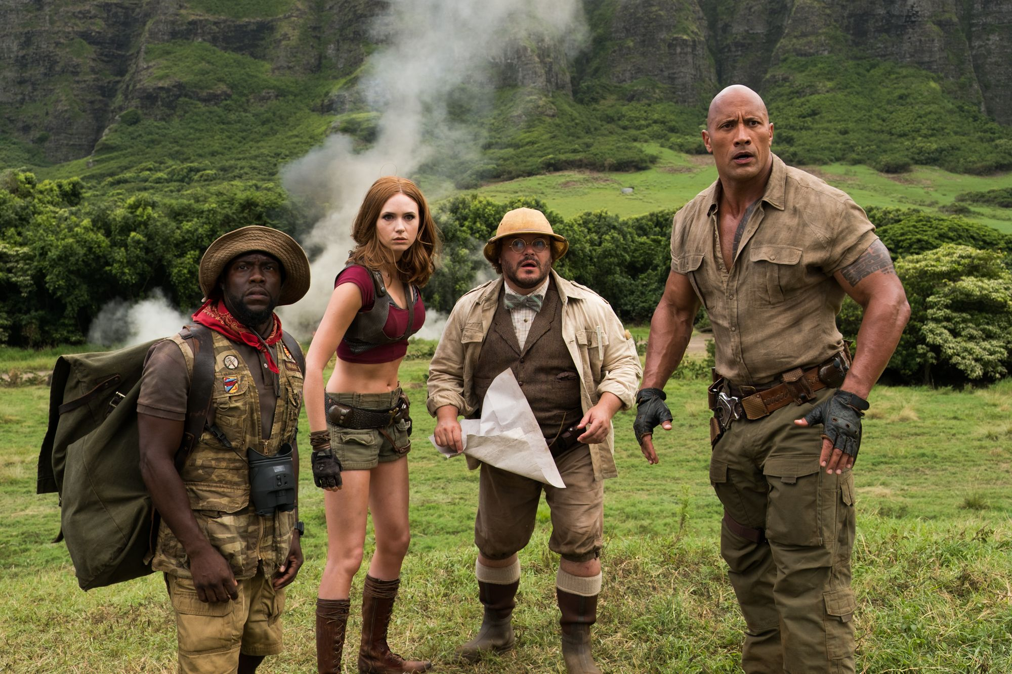 'Jumanji: Welcome to the Jungle' review: Dwayne Johnson leads silly fun
