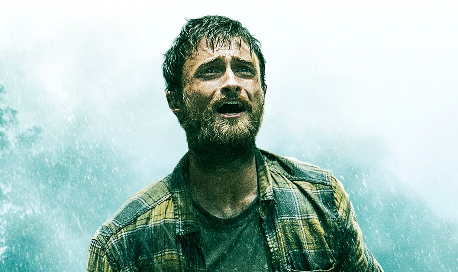 Jungle Poster Has Daniel Radcliffe in Survival Mode   Collider Horns Movie Poster