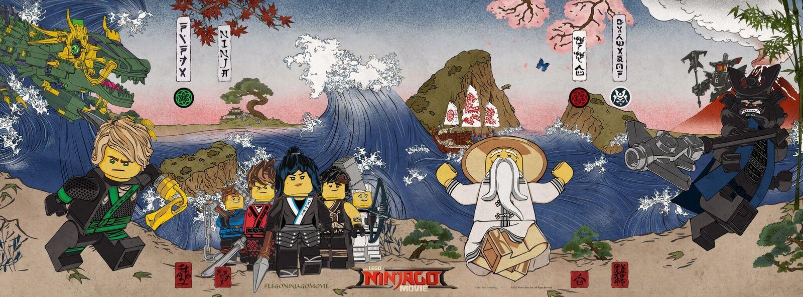 Lego Ninjago Movie Poster Goes Ukiyo E Collider
