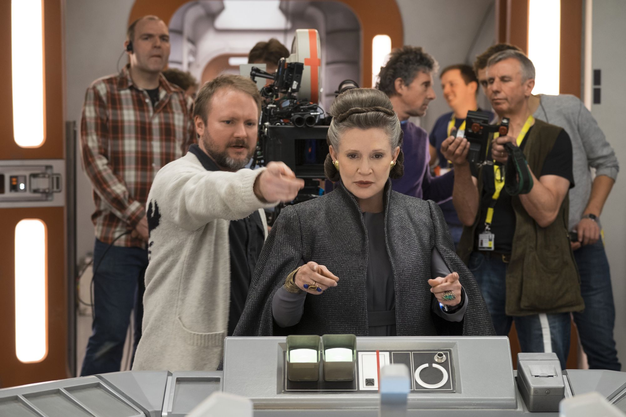 Carrie Fisher Rian Johnson