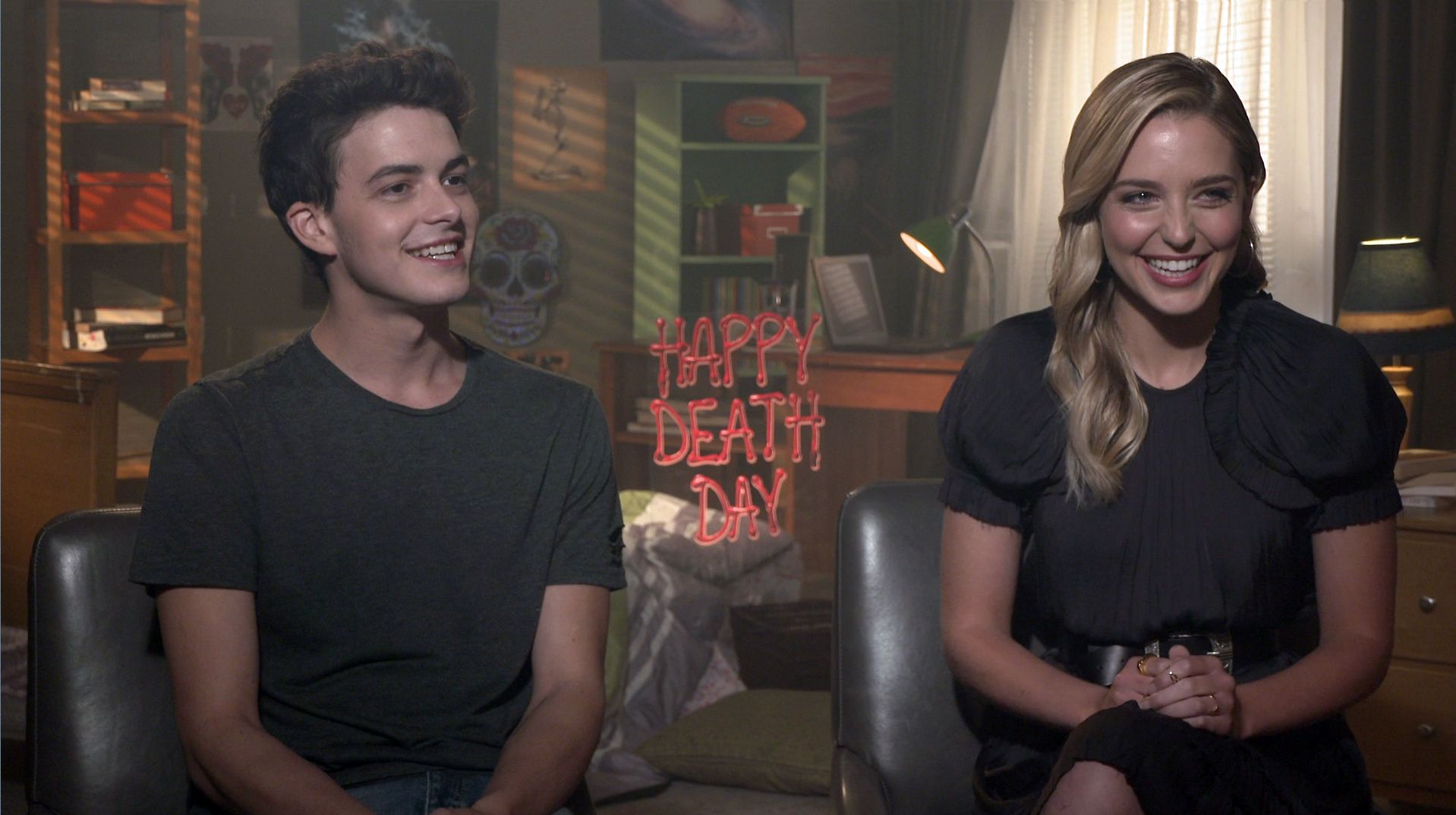Happy death day jessica rothe israel broussard interview collider stopboris Image collections