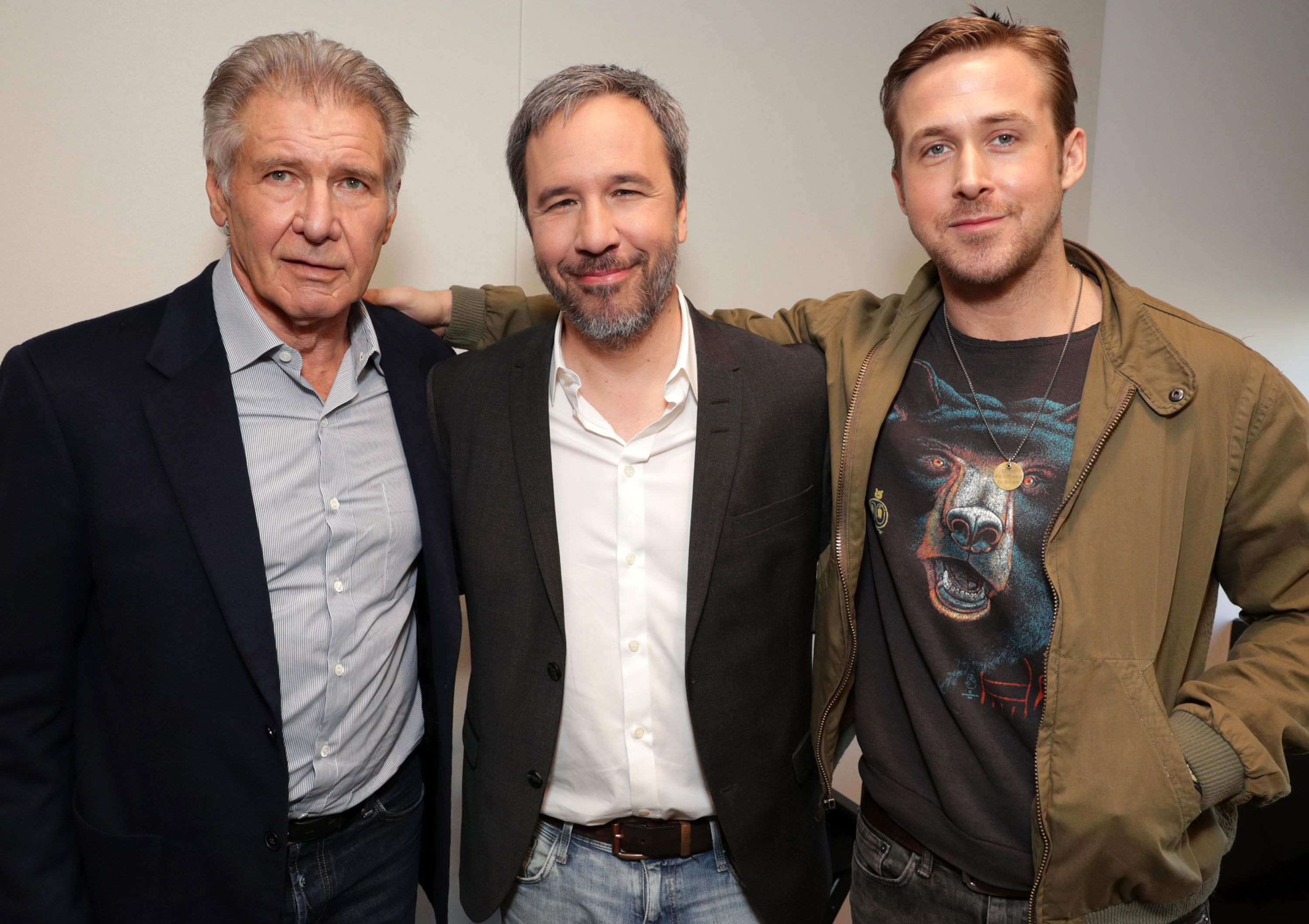 Harrison Ford, Ryan Gosling can't stop laughing in boozy British interview