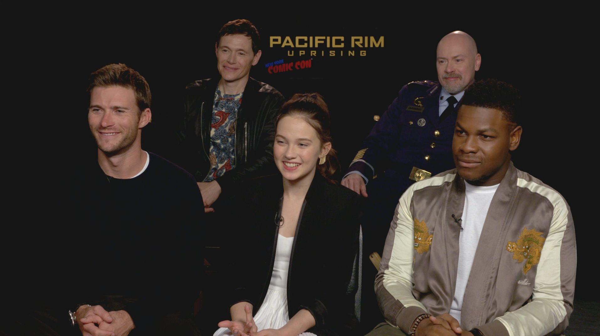 Pacific Rim: Uprising Cast on Why Voltron Wasn't Invited ... Pacific Rim Cast