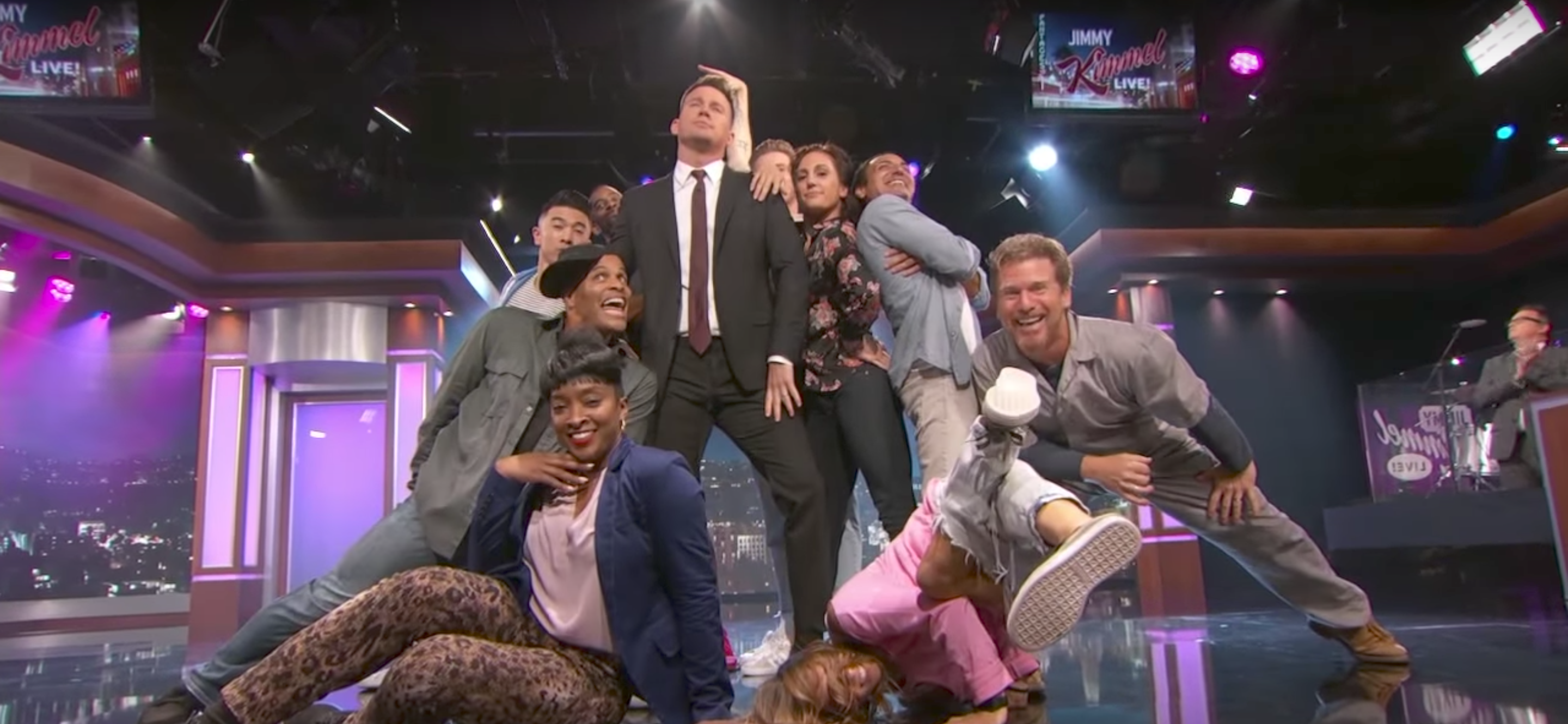 watch: channing tatum dances and pranks on jimmy kimmel | collider
