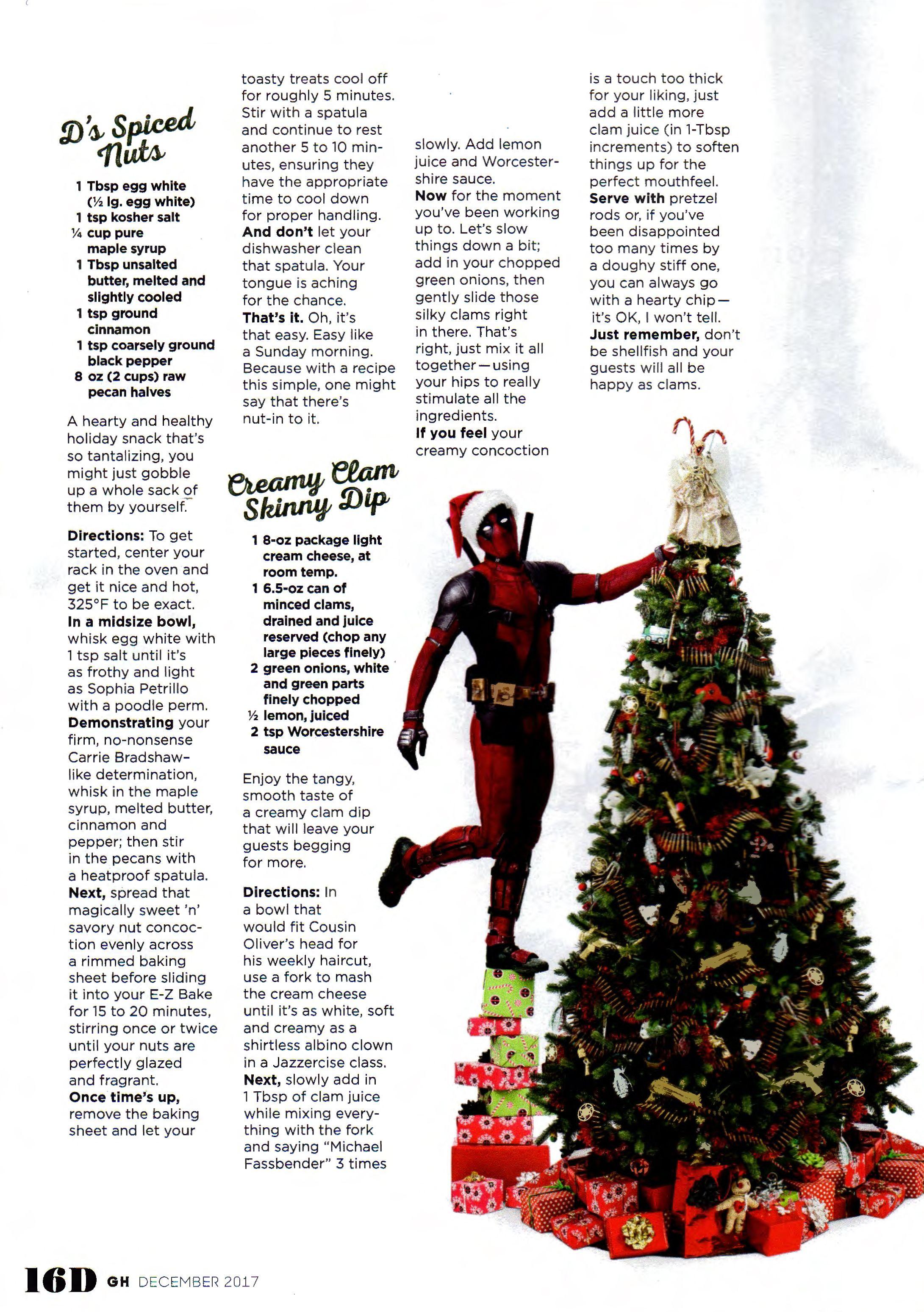 Good Housekeeping December 2017 Deadpool Movie Christmas Thanksgiving Variant