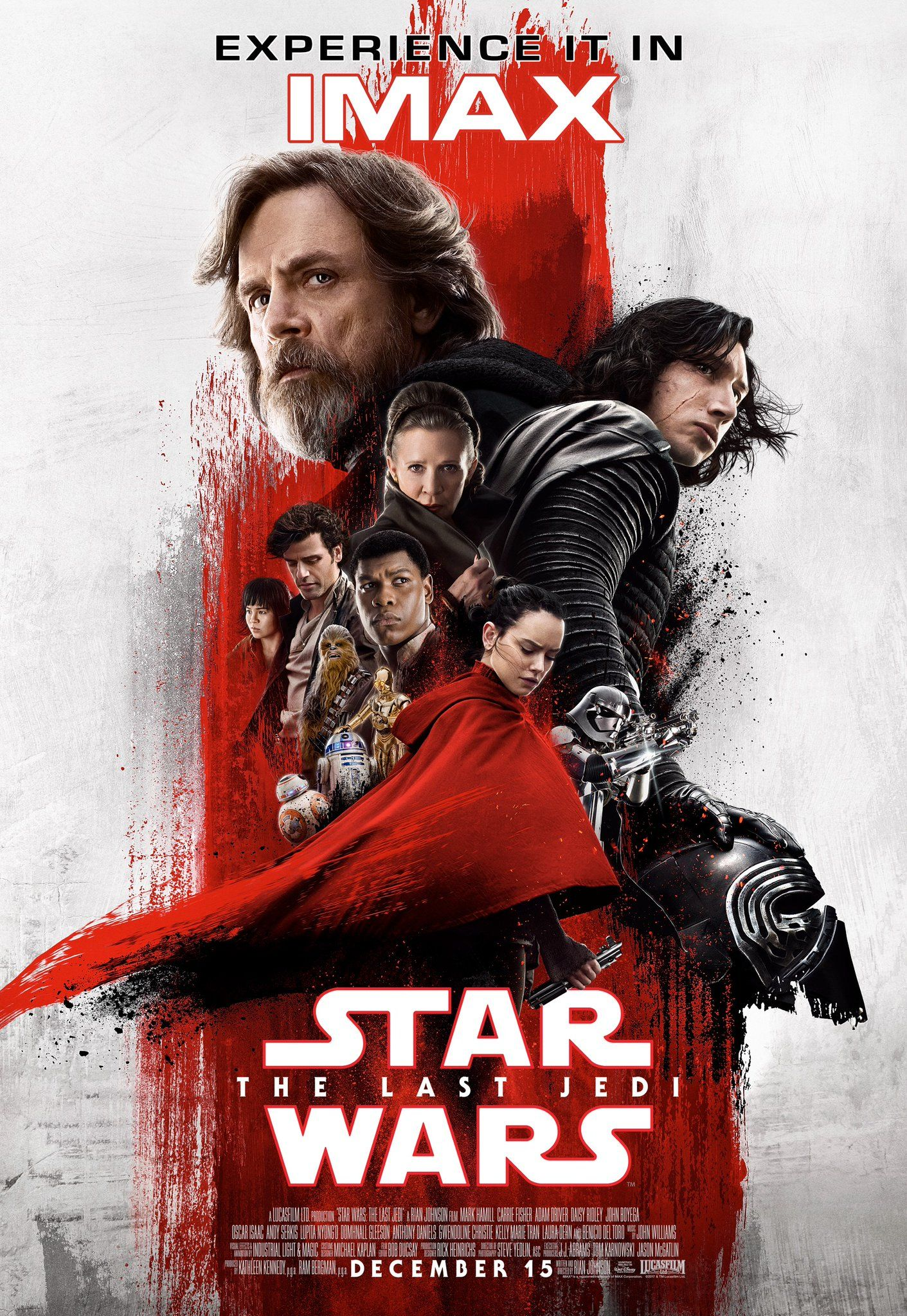 star wars the last jedi imax poster is seeing red collider. Black Bedroom Furniture Sets. Home Design Ideas