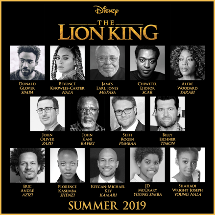Disney announces full cast for the new The Lion King