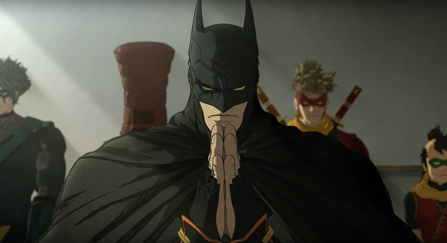 batman ninja trailer travels to feudal japan  anime style