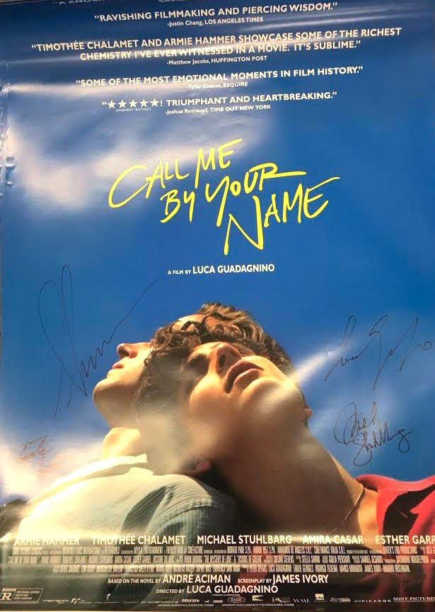 Enter For A Chance To Win A Call Me By Your Name Signed Poster