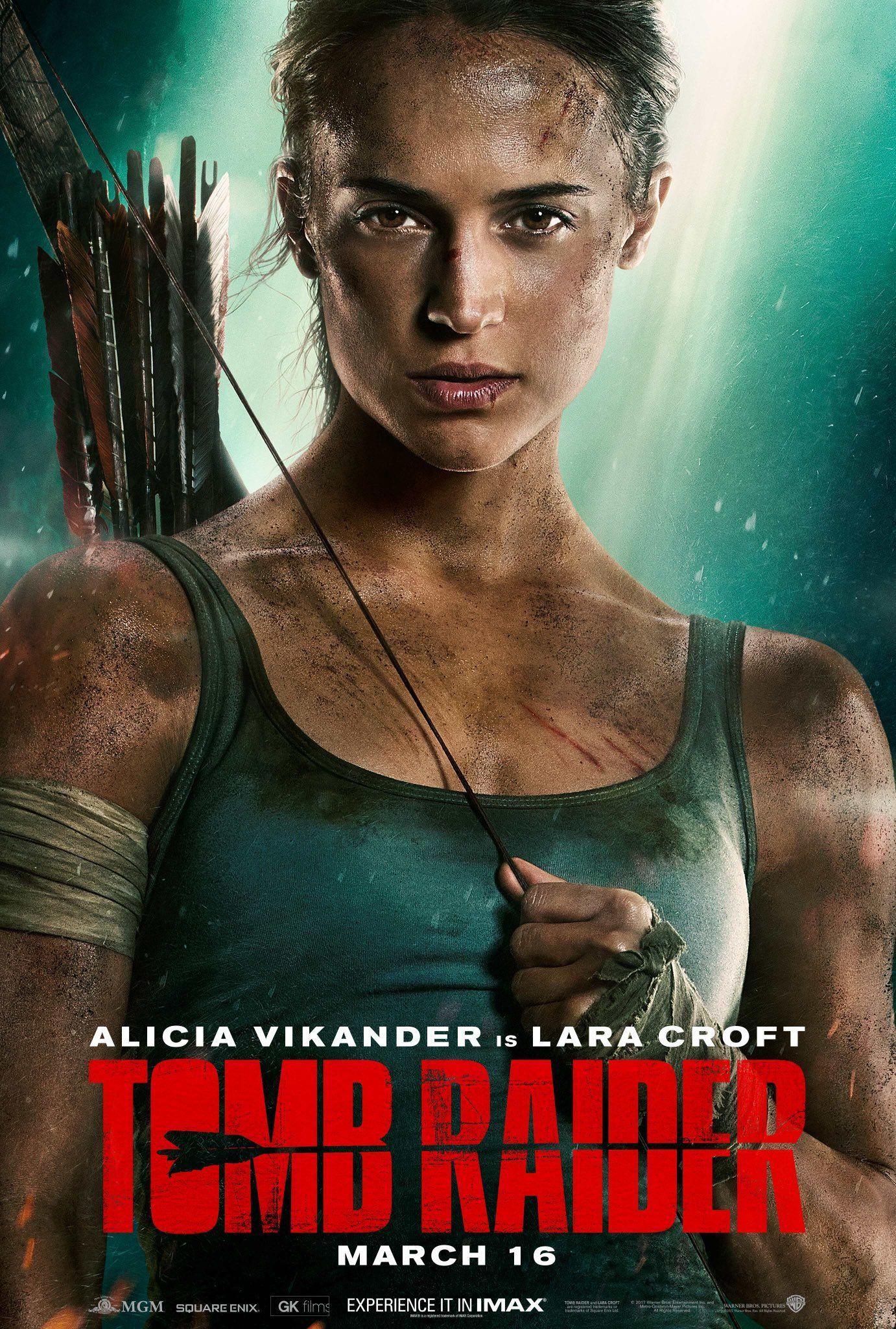 tomb raider movie new poster features alicia vikander