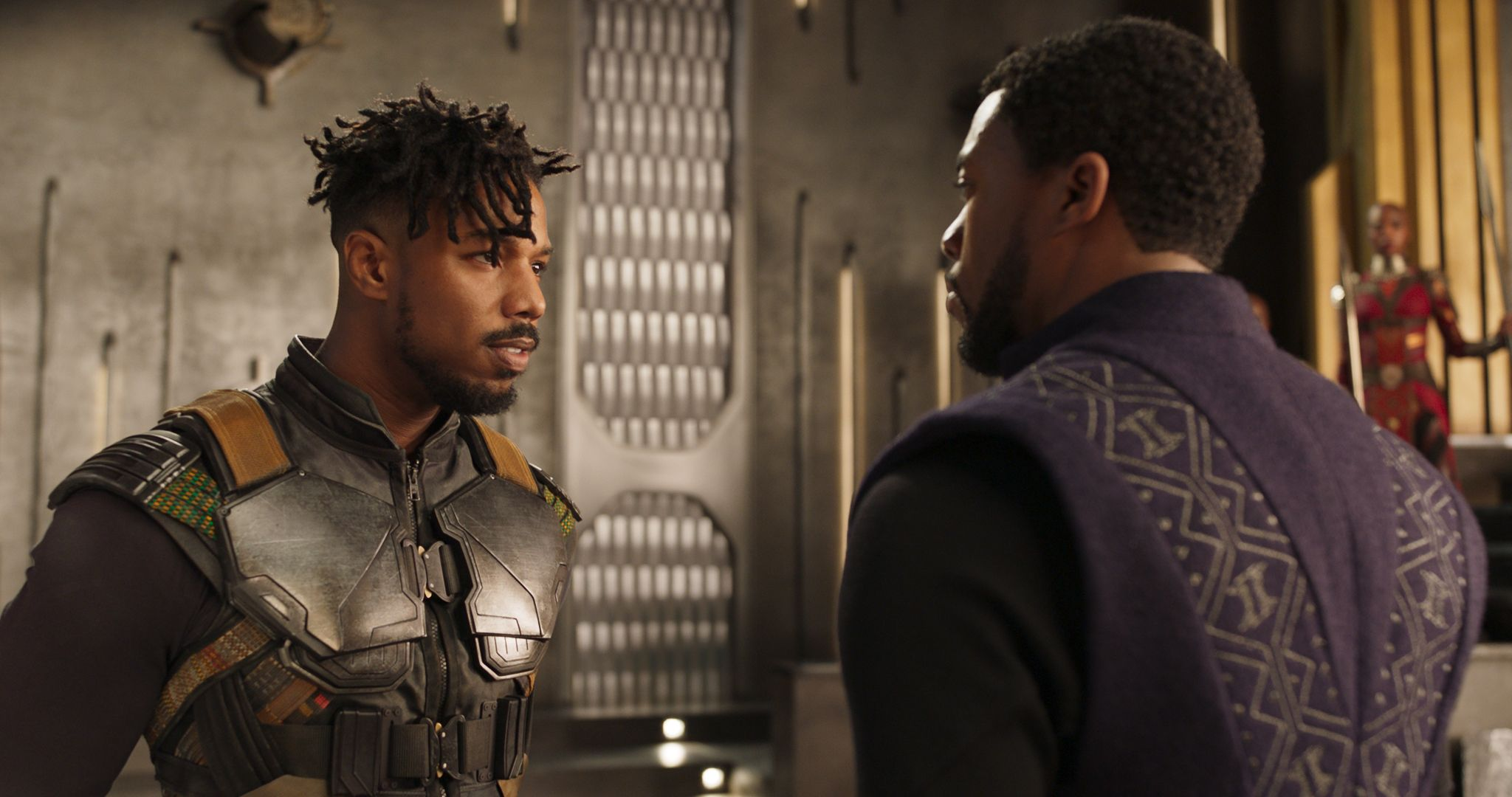 black panther michael b jordan chadwick boseman - Weekend Box Office: 'Black Panther' Continues Reign at # 1; 'Wrinkle in Time' Earns $33 Million