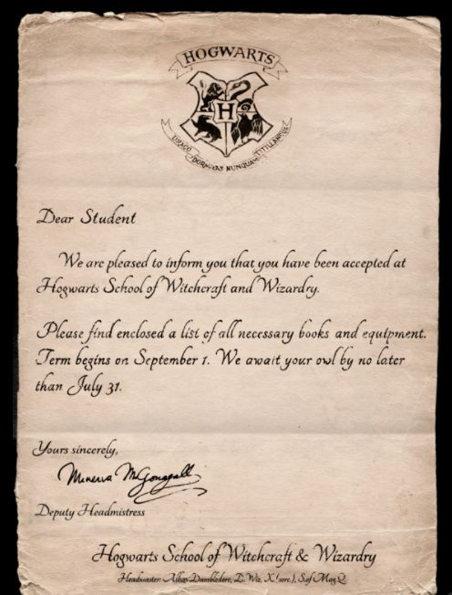 harry potter letters beautiful harry potter letters cover letter examples 30349