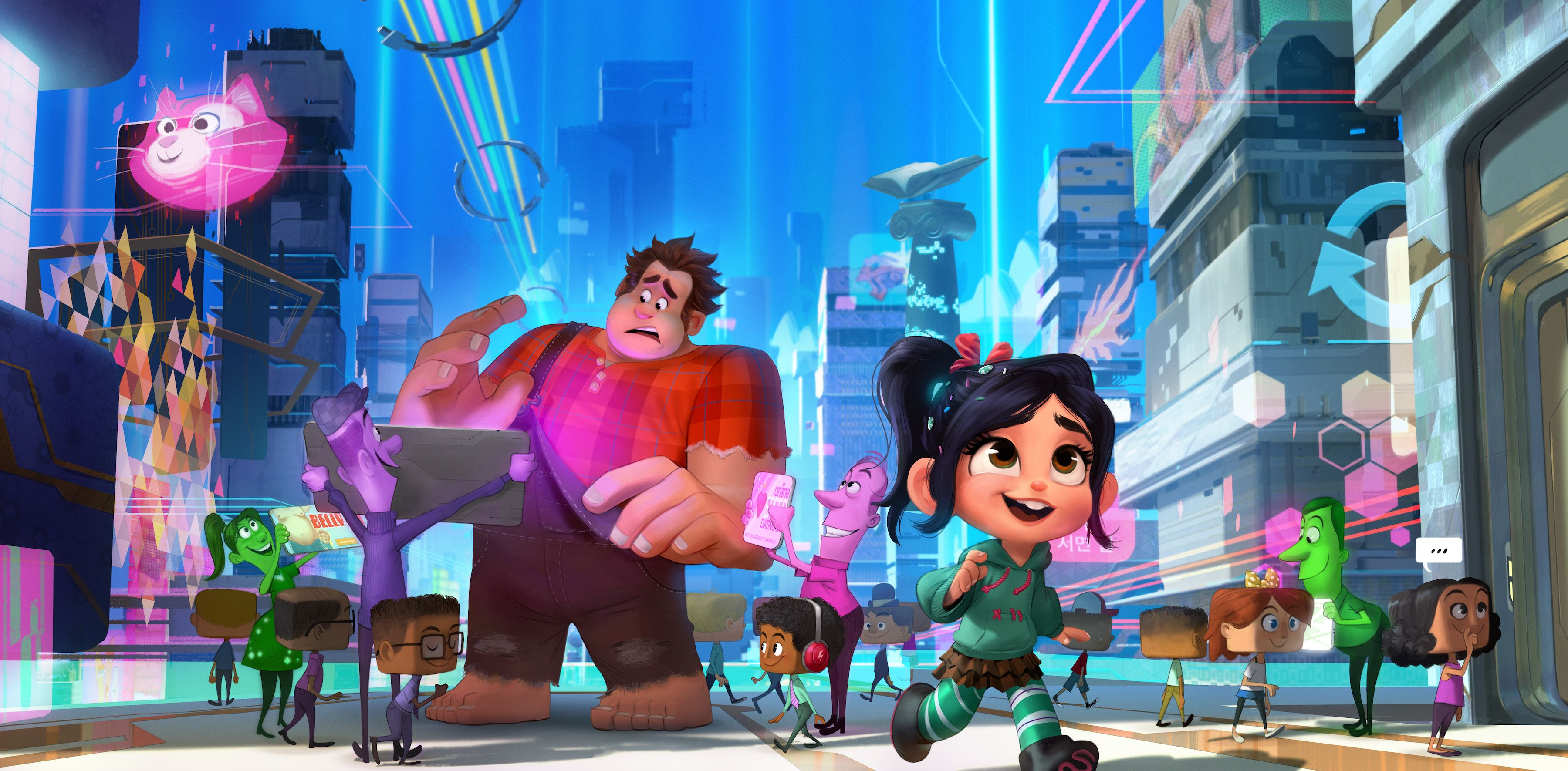 new wreckit ralph 2 poster reveals who broke the internet