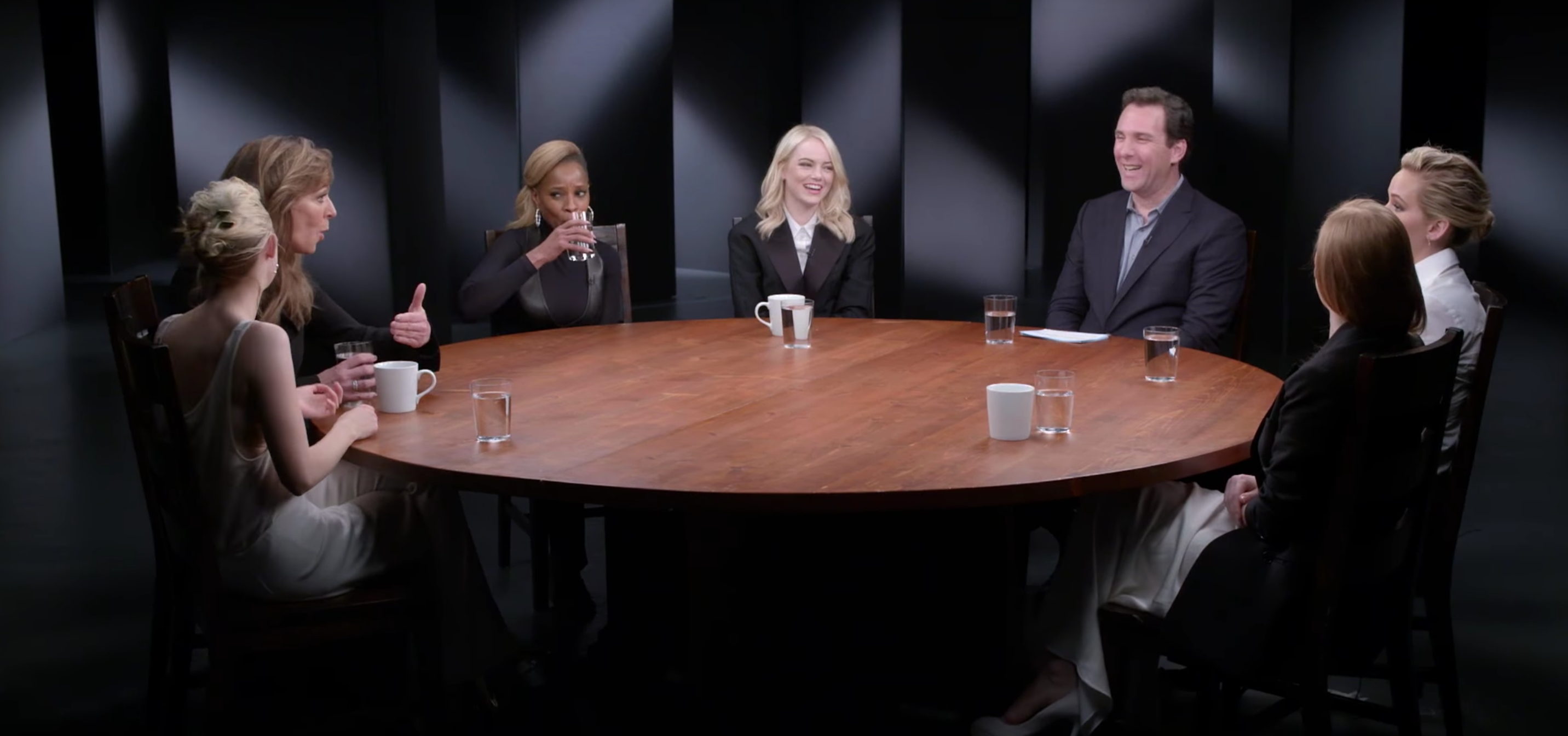 actress roundtable - View a 1-Hour Roundtable Conversation with Jessica Chastain, Jennifer Lawrence, Emma Stone & & More