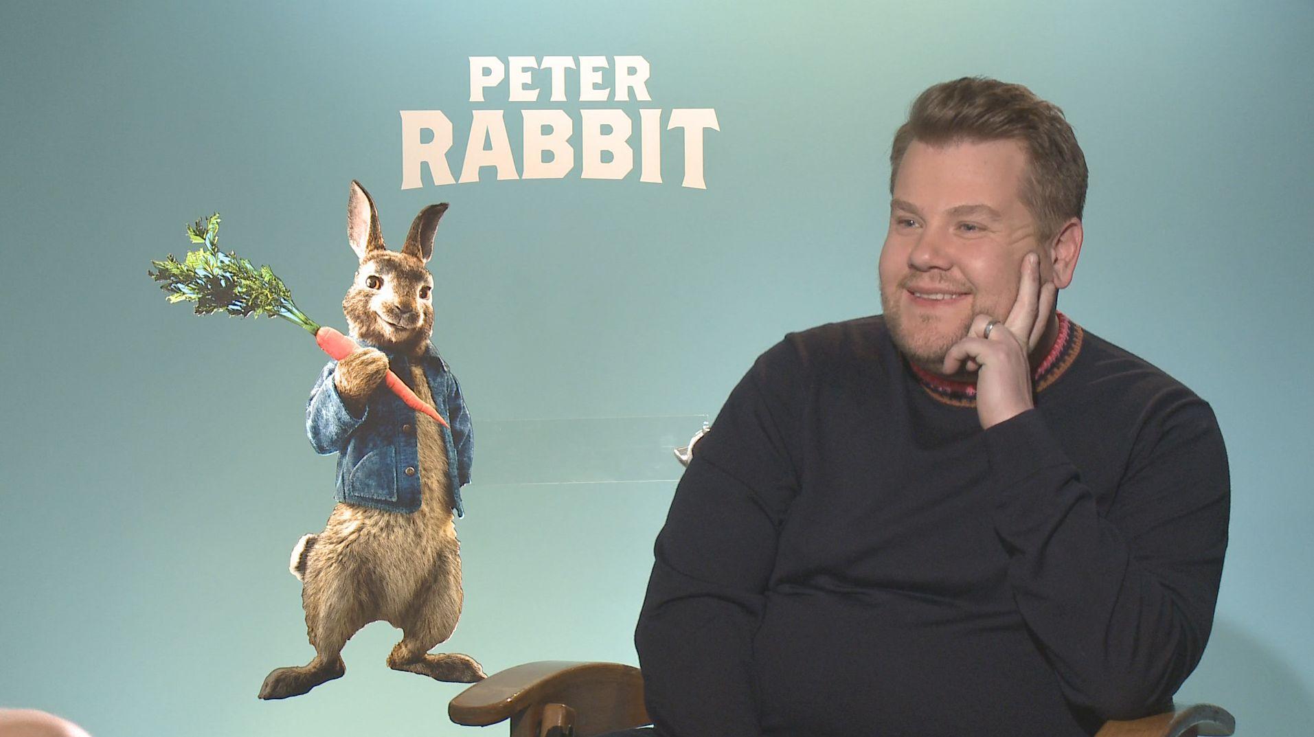 james corden interview peter rabbit oceans 8 - James Corden on Being Honored to Voice 'Peter Rabbit' and 'Oceans 8'