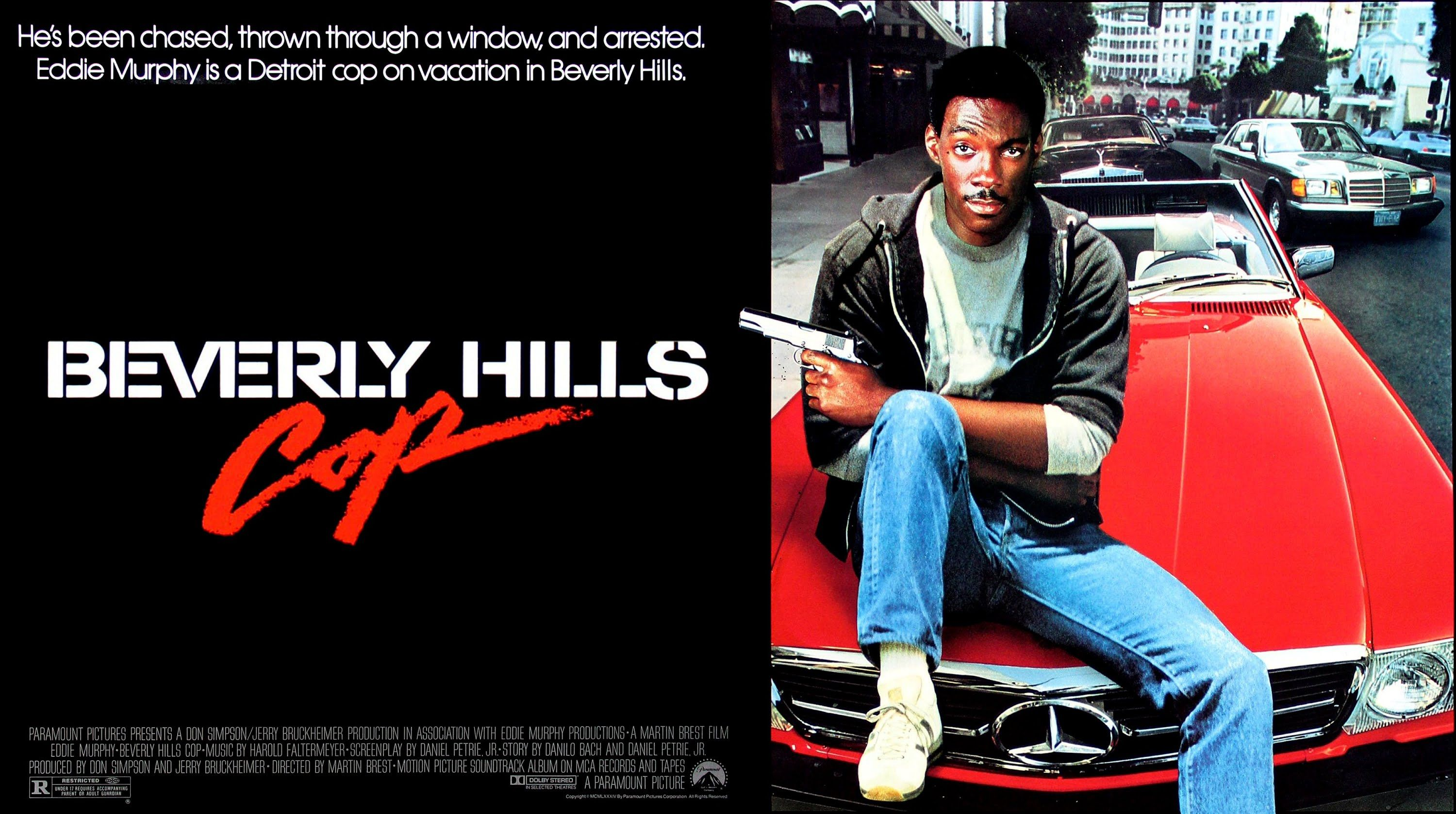 beverly hills cop poster - The Year in Film: 1984
