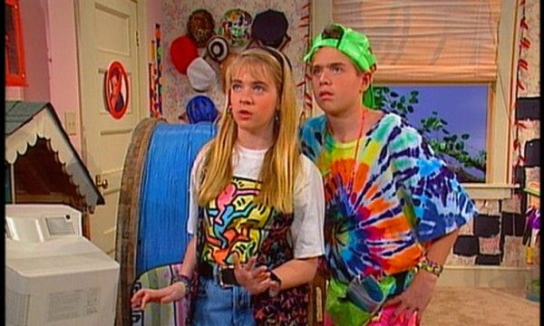 On-the-set-of-Clarissa-Explains-It-All,-1992   Clarissa explains it all, 90s fashion, 90s