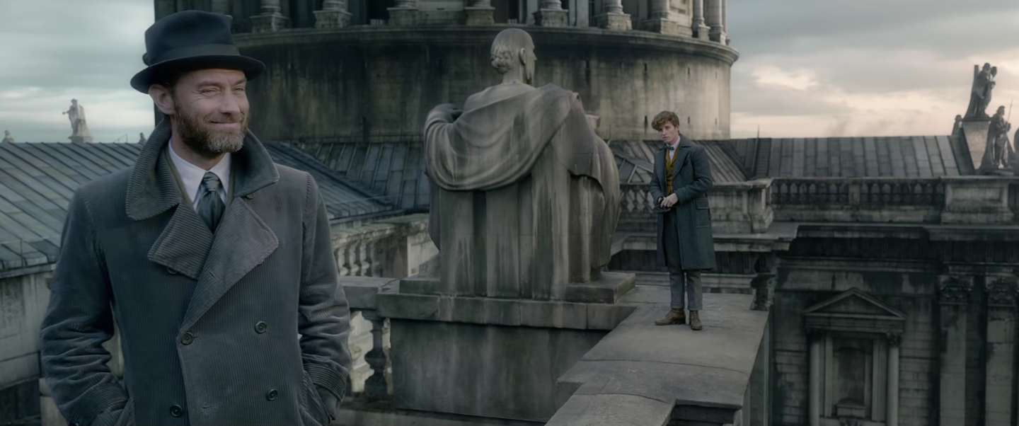fantastic beasts 2 newt dumbledore - 'Fantastic Beasts: The Crimes of Grindelwald' Reveals Magical Beasts, Buddies, and Baddies